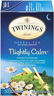 Twinings 川寧 倫敦夜間涼茶,20袋,1.02盎司,29克(6包)