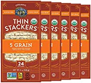 Lundberg Organic Thin Stackers, Five Grain, 6oz (6 Count), Gluten-Free, Vegan, Usda Certified Organic, Non-Gmo