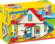 Playmobil 摩比世界 1.2.3 家庭拼插玩具 70129,具有铃声和音效,适用于18个月以上儿童