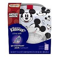 Kleenex 超软随身夹式面部纸巾带米老鼠架,30 支(10 支装)(设计可能有所不同)