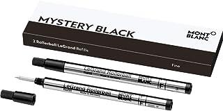 Montblanc 万宝龙 LeGrand 圆珠笔 (F) Mystery Black 105166 – 专为 Meisterstück LeGrand 圆珠笔替换芯 – 2 x 黑色笔芯