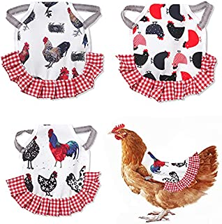 3 件装鸡座,标准尺寸鸡胸背带可爱鸡围裙,适用于鸡肉,带弹性肩带