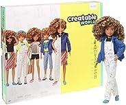 Creatable World 豪華人物套裝可定制娃娃,金發卷發