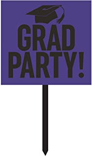 Creative Converting Grad Party 纸院标牌 紫色 328305