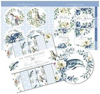 The Paper Boutique 花卉波浪,纸套装,20.32 厘米 x 20.32 厘米