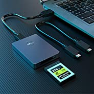 CFexpress 读卡器,Rocketek Type B USB 3.1 Gen 2 10Gbps CFexpress 读卡器,便携式铝 CFexpress 存储卡适配器 Thunderbolt 3 端口连接支持 An