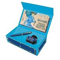 Pelikan 百利金 特別版活塞鋼筆 M120,鋼筆 皇家藍 Feder B Geschenkset 金黃色