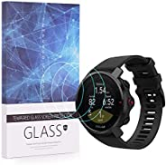 Huafly 3 件装屏幕保护膜,适用于 Polar Grit X Watch 全覆盖 2.5D 9H 硬度钢化玻璃膜防刮