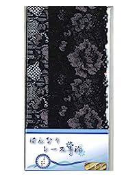 蜂鸣蕾丝半领 黑色 長さ120×幅16cm(二つ折りで8cm) 4580607780278