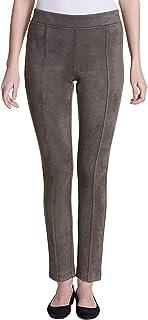 Andrew Marc 超柔软弹性仿麂皮套裤,灰褐色
