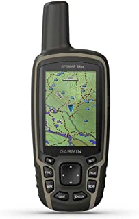 Garmin GPSMAP 64sx 带高度计和指南针的手持GPS,预装有TopoActive地图,黑色/棕褐色,均码