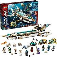 LEGO 乐高 71756 NINJAGO Hydro Bounty 积木套装,潜水玩具与凯和奈亚迷你忍者玩具,适合 9 岁以上的儿童