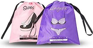 PURE STYLE Girlfriends 女士 Travel Drawstring Bag Set: Shoe + Lingerie