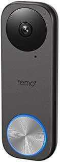 Remo+ RemoBell S WiFi视频门铃摄像头,高清视频,运动传感器,双向通话和启用Alexa(无需月租费用)(免费云存储)