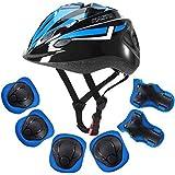 ArgoHome 儿童头盔保护装备套装 幼儿头盔 儿童护膝 3-8 岁 幼儿 青少年 自行车 滑板 头盔 膝盖 肘部 护…