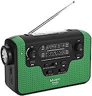 便攜式緊急收音機,FM/AM/SW 太陽能收音機手搖手機充電器,帶 LED 手電筒功能,支持 TF 卡音樂,支持藍牙免提通話,紅色,*(*)