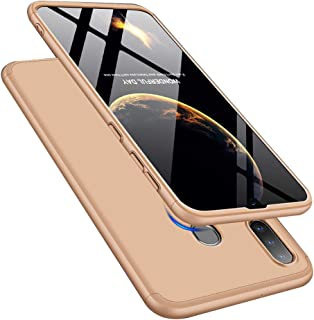 LEECOCO 三星 Galaxy A30 超薄 3 合 1 360 度全身 3 in 1 Gold AR