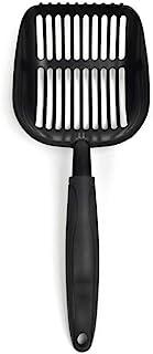 ViviPet PawPlus 大号猫砂铲,深铲设计,符合人体工程学的抓握勺子带不粘表面 黑色