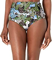 Calvin Klein 女式百褶高腰比基尼泳装下装