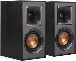Klipsch R-41M 精细的书架式家庭扬声器2件套,功能强大,黑色