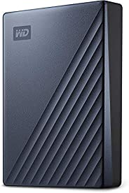 Western Digital 西部数据 WD My Passport Ultra Blue 便携式外置硬盘,USB-C-WDBFTM0050BBL-WESN,5TB