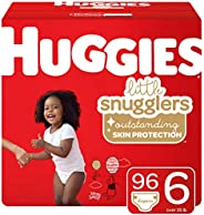 Huggies Little Snugglers 嬰兒尿布,尺碼 1,198片,1個月 One Month Supply Pack 6