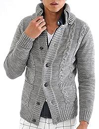 ( 黑桃 ) Spade 针织衫男士开衫夹克长袖毛驴 ( Q726)
