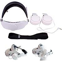 Oculus Quest 2 VR 虚拟现实眼镜头带,可调节头带,带立体声耳机