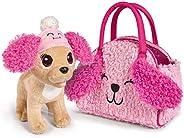 Simba 105893510 Chi Love Fluffy Friend/hihuahua 毛绒狗,带毛绒帽和合适的口袋 / 20 厘米 / 3 岁+
