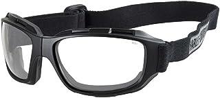 Harley-Davidson 男式弯曲透明镜片护目镜,可折叠黑色框 HABEN03