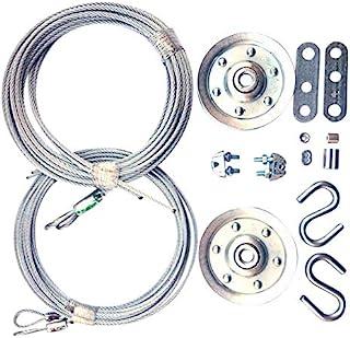 电缆和滑轮替换套件 - 两个 7.62 cm 重型割草。 两对镀锌航空器电缆 - 直径 0.95cm 和 0.32cm。 10 个紧固件,适用于头顶部分车库门。 DIY 和储蓄