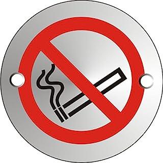 Seco No Smoking Pictogram 标志,直径 72mm - 1.5mm 缎面阳极氧化铝