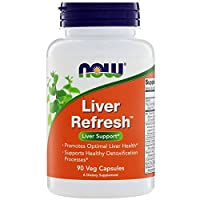 NOW Foods 诺奥 Liver Refresh 肝片 90 粒素食胶囊 (3 包装)