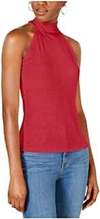 Bar III 企领罗纹背心,红色 XL