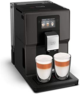 Krups 全自动咖啡机 EA872B 直观的*,带智能手机类似的 3.5 英寸彩色触摸屏;直观的彩色灯光指示;11 个个性化饮料