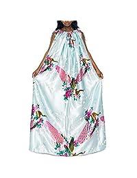 尤尼 蒸汽长袍 (浅蓝孔雀) 浴袍 全身遮盖 柔软光滑面料 环保