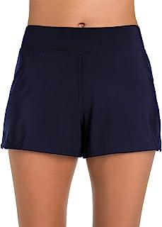Penbrooke 女式加大码收腹游泳短裤比基尼下装