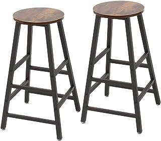 AZ L1 Life Concept 酒吧高脚凳 2 件套,27 英寸(约 70.4 厘米)酒吧餐厅高脚凳小酒馆黑色桌椅