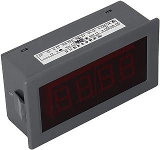 Heyiarbeit 交流电压表 YB5135B 数字黑色文字 LED 数字伏电压表 4 根电线连接用于直流电压测量 1 件