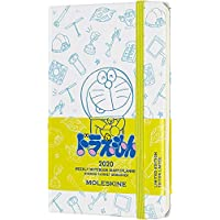 Moleskine 周记事本,袖珍日历,12 个月,202020,Doraemon Pocket/A6 白色
