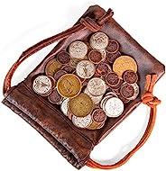 Dragon's Hoard:60 个真正的金属幻想硬币带皮革袋   桌面游戏配件 RPG 角色扮演战略游戏   青铜、银和