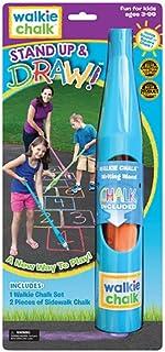 Walkie 粉笔立式人行道粉笔支架 - 青色 - 创意户外玩具,适合儿童和成人!