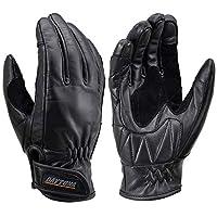 Daytona 摩托車用 手套 M尺寸 黑色 四季通用 支持觸屏 牛皮 牛皮手套 HBG-109 17740