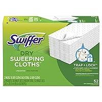 Swiffer 拖把配套使用的干纸补充装,用于地板拖地和清洁,通用地板清洁产品,无气味,52张