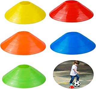 QUUPY 20 足球锥圆盘套装,运动速度和敏捷训练套装,用于训练足球、篮球运动员