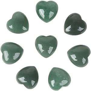 nobrand *水晶 2.54 厘米迷你蓬松爱心口袋石铁礼品盒 Green Aventurine