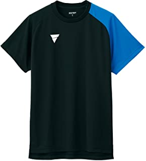 VICTAS 乒乓球 练习用 衬衫 V-NTS204 黑色 L 033462
