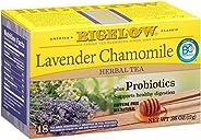 Bigelow Tea Lavender Chamomile Plus Probiotics Herbal Tea Bags, 18 Count Box (Pack of 6) Caffeine-Free Herbal