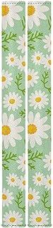 Summer Flower 冰箱门把手装饰花卉雏菊厨房电器手柄盖套装保持污渍滴落食物污渍油指纹灰尘