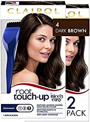 Clairol Nice 'n Easy Root Touch-Up 4 Matches Dark Brown Shades 1 Kit, (Pack of 2) 4 Dark Brown Pack
